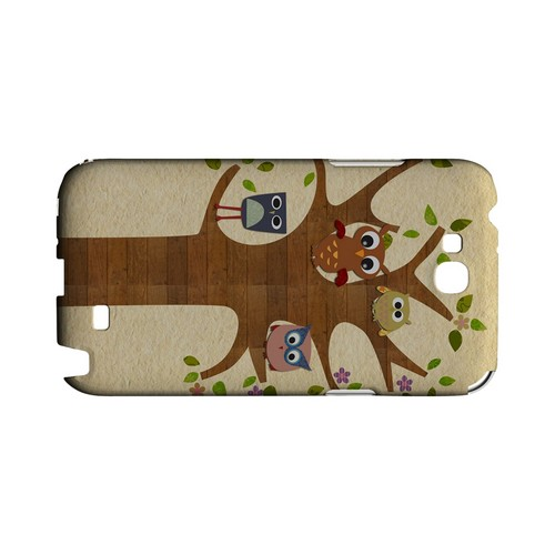 Owls on Brown Tree - Geeks Designer Line (GDL) Owl Series Hard Back Cover for Samsung Galaxy Note 2