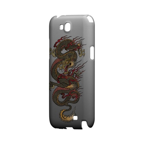 Dragon on Gray Gradient - Geeks Designer Line Tattoo Series Hard Case for Samsung Galaxy Note 2