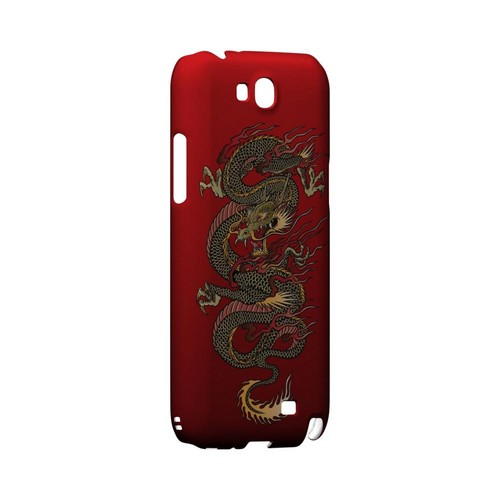Dragon on Red Gradient - Geeks Designer Line Tattoo Series Hard Case for Samsung Galaxy Note 2