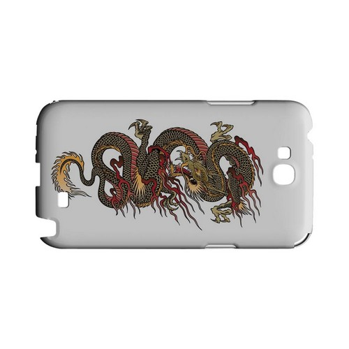Dragon on White - Geeks Designer Line Tattoo Series Hard Case for Samsung Galaxy Note 2