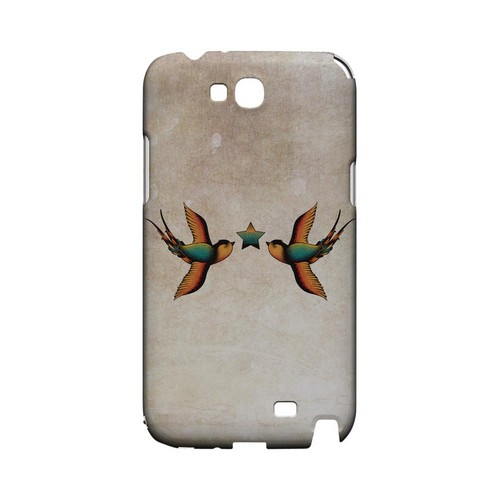 Dual Swallow Star - Geeks Designer Line Tattoo Series Hard Case for Samsung Galaxy Note 2