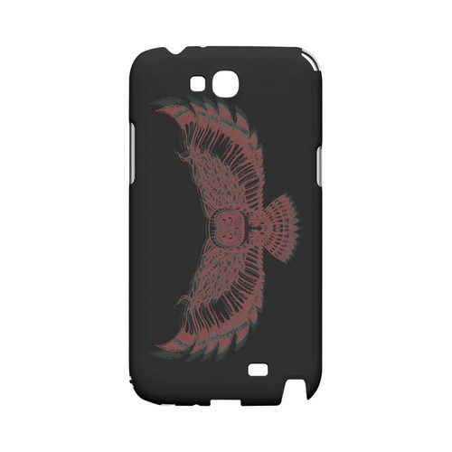 Flying Owl 3D-Esque - Geeks Designer Line Tattoo Series Hard Case for Samsung Galaxy Note 2