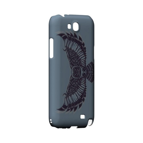 Flying Owl Blue/ Gray - Geeks Designer Line Tattoo Series Hard Case for Samsung Galaxy Note 2