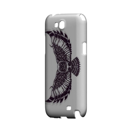 Flying Owl on White - Geeks Designer Line Tattoo Series Hard Case for Samsung Galaxy Note 2