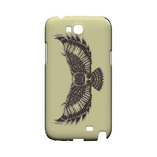 Flying Owl on Yellow - Geeks Designer Line Tattoo Series Hard Case for Samsung Galaxy Note 2