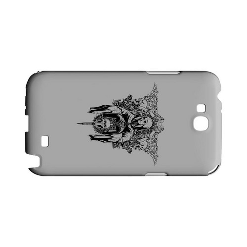 Inkfection on Gray - Geeks Designer Line Tattoo Series Hard Case for Samsung Galaxy Note 2
