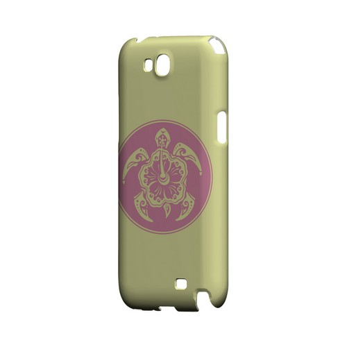 Pink Island Turtle Solo on Yellow - Geeks Designer Line Tattoo Series Hard Case for Samsung Galaxy Note 2