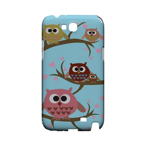 Round Owl Hangout - Geeks Designer Line (GDL) Owl Series Hard Back Cover for Samsung Galaxy Note 2