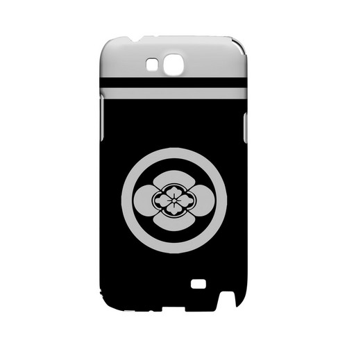 White Boke Kamon w/ Stripe - Geeks Designer Line Tattoo Series Hard Case for Samsung Galaxy Note 2