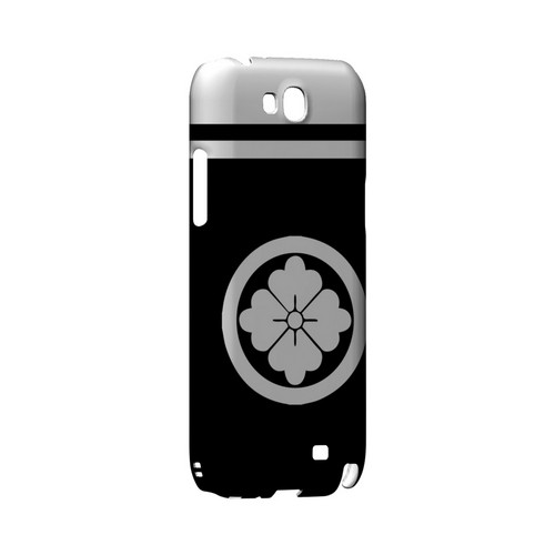 White Hanabishi Kamon w/ Stripe - Geeks Designer Line Tattoo Series Hard Case for Samsung Galaxy Note 2