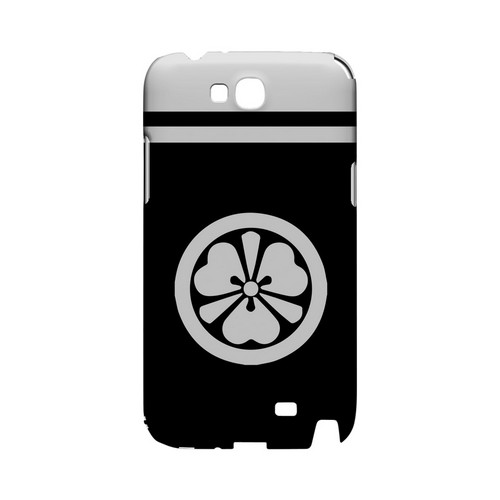 White Katabami Kamon w/ Stripe v.3 - Geeks Designer Line Tattoo Series Hard Case for Samsung Galaxy Note 2