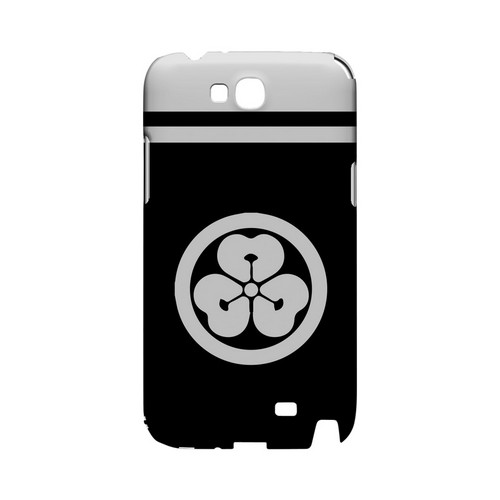 White Katabami Kamon w/ Stripe v.4 - Geeks Designer Line Tattoo Series Hard Case for Samsung Galaxy Note 2