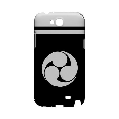 White Tomoe Kamon w/ Stripe v.1 - Geeks Designer Line Tattoo Series Hard Case for Samsung Galaxy Note 2