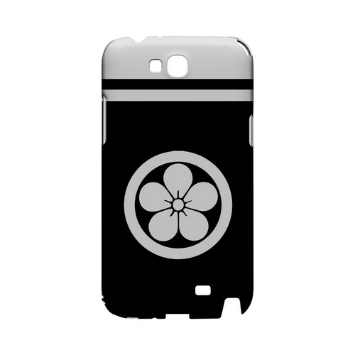 White Umebachi Kamon w/ Stripe v.3 - Geeks Designer Line Tattoo Series Hard Case for Samsung Galaxy Note 2