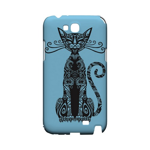 Kitty Nouveau on Light Blue - Geeks Designer Line Tattoo Series Hard Case for Samsung Galaxy Note 2