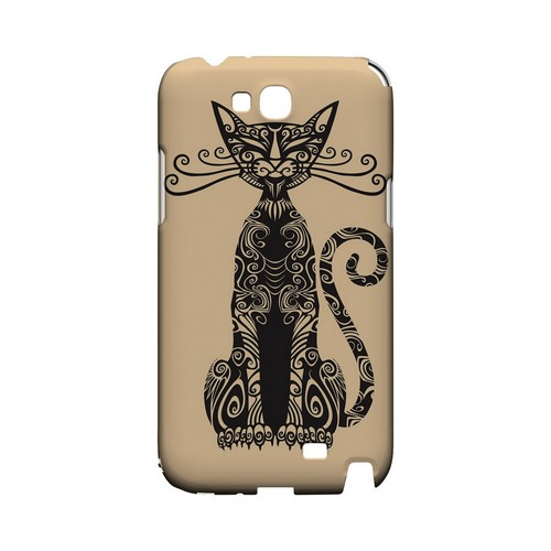 Kitty Nouveau on Peach - Geeks Designer Line Tattoo Series Hard Case for Samsung Galaxy Note 2