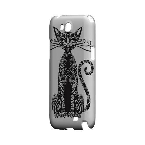 Kitty Nouveau on White - Geeks Designer Line Tattoo Series Hard Case for Samsung Galaxy Note 2