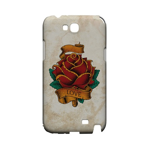 Love Rose - Geeks Designer Line Tattoo Series Hard Case for Samsung Galaxy Note 2