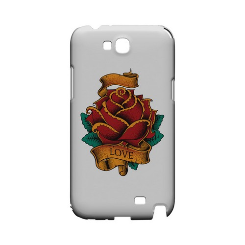 Love Rose on White - Geeks Designer Line Tattoo Series Hard Case for Samsung Galaxy Note 2