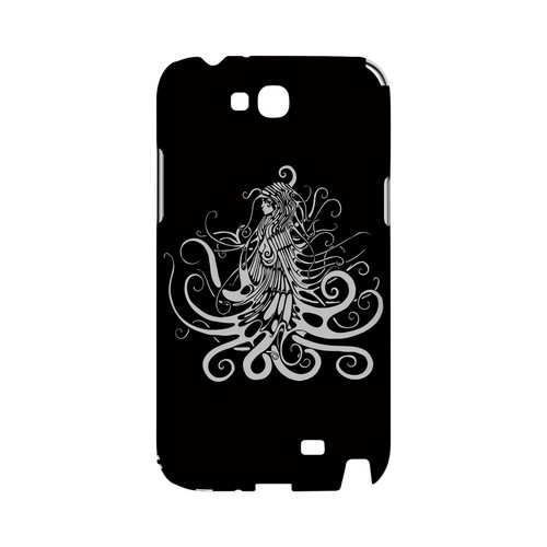 White Medusa on Black - Geeks Designer Line Tattoo Series Hard Case for Samsung Galaxy Note 2