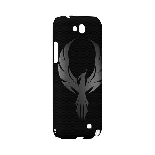 Phoenix Metal on Dark Gray Texture - Geeks Designer Line Tattoo Series Hard Case for Samsung Galaxy Note 2