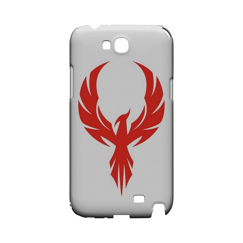 Phoenix Red on White - Geeks Designer Line Tattoo Series Hard Case for Samsung Galaxy Note 2