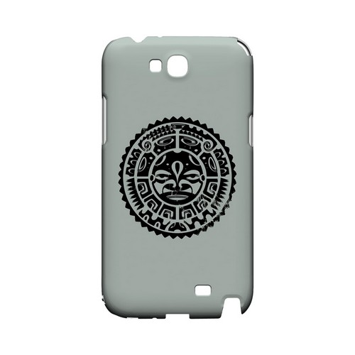 Polynesian Face on Gray - Geeks Designer Line Tattoo Series Hard Case for Samsung Galaxy Note 2