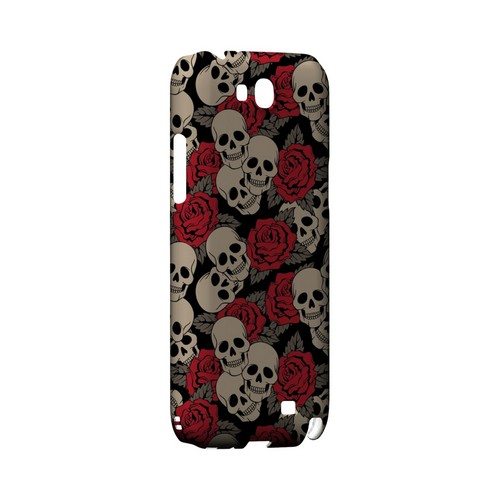 Rose Skulls - Geeks Designer Line Tattoo Series Hard Case for Samsung Galaxy Note 2