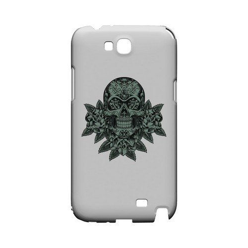 Skull Roses Aqua - Geeks Designer Line Tattoo Series Hard Case for Samsung Galaxy Note 2
