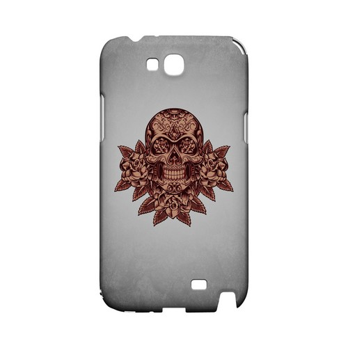 Skull Roses Red Grunge - Geeks Designer Line Tattoo Series Hard Case for Samsung Galaxy Note 2