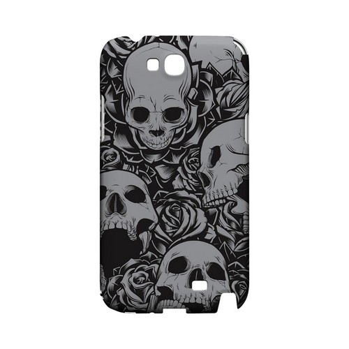 Skulls Rose Gray - Geeks Designer Line Tattoo Series Hard Case for Samsung Galaxy Note 2