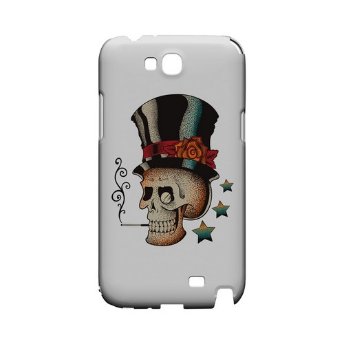 Smoking Skull on White - Geeks Designer Line Tattoo Series Hard Case for Samsung Galaxy Note 2