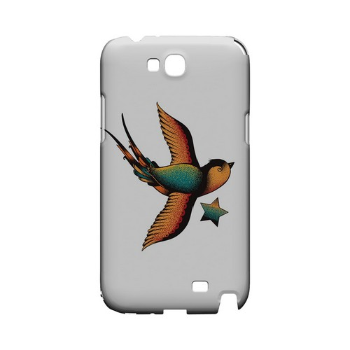 Swallow Star on White - Geeks Designer Line Tattoo Series Hard Case for Samsung Galaxy Note 2