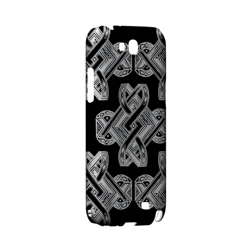 Tribal Art on Black - Geeks Designer Line Tattoo Series Hard Case for Samsung Galaxy Note 2