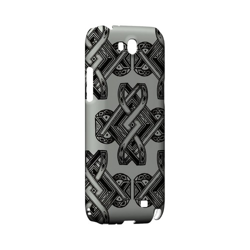 Tribal Art on Gray - Geeks Designer Line Tattoo Series Hard Case for Samsung Galaxy Note 2