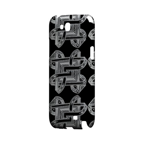 Tribal Art Pattern on Black - Geeks Designer Line Tattoo Series Hard Case for Samsung Galaxy Note 2