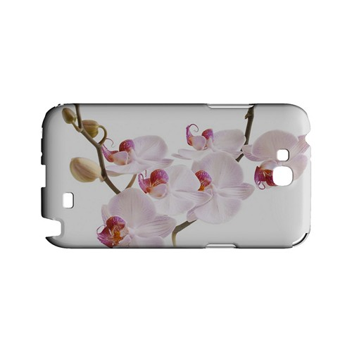 White Pink Orchid - Geeks Designer Line Floral Series Hard Case for Samsung Galaxy Note 2