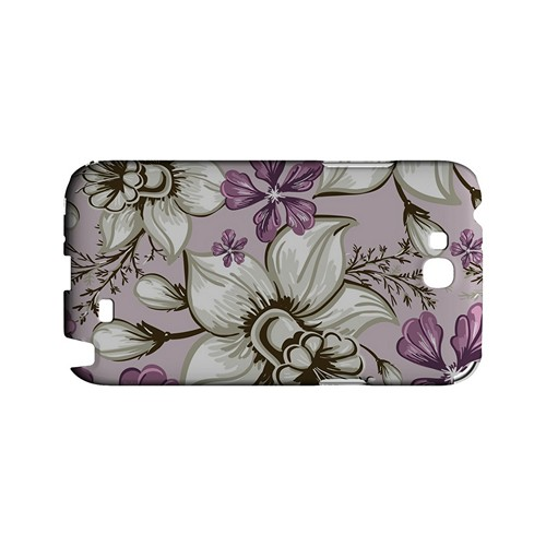 White and Violet Orchids - Geeks Designer Line Floral Series Hard Case for Samsung Galaxy Note 2