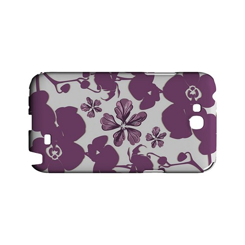 Purple Orchids - Geeks Designer Line Floral Series Hard Case for Samsung Galaxy Note 2
