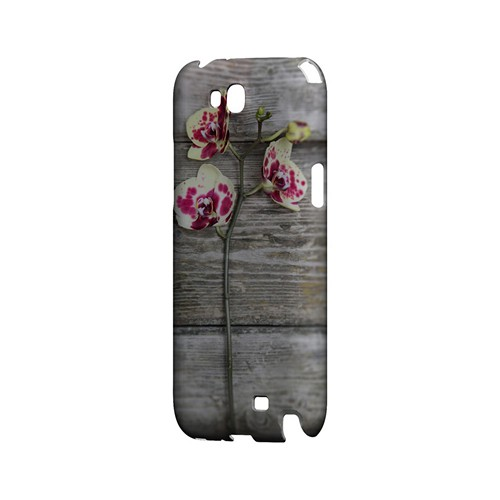Orchid on Wood - Geeks Designer Line Floral Series Hard Case for Samsung Galaxy Note 2