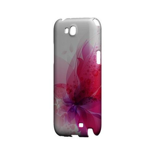 Hot Pink Orchid Swoosh Fade - Geeks Designer Line Floral Series Hard Case for Samsung Galaxy Note 2