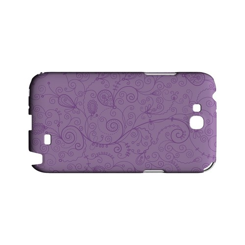 Floral 1 African Violet - Geeks Designer Line Pantone Color Series Hard Case for Samsung Galaxy Note 2