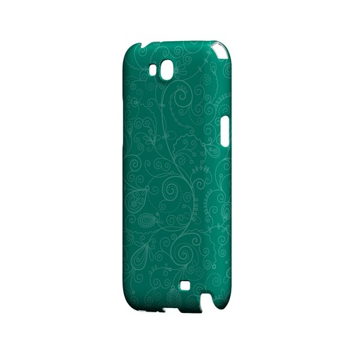 Floral 1 Emerald - Geeks Designer Line Pantone Color Series Hard Case for Samsung Galaxy Note 2