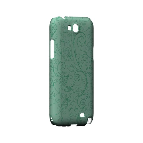 Floral 1 Grayed Jade - Geeks Designer Line Pantone Color Series Hard Case for Samsung Galaxy Note 2