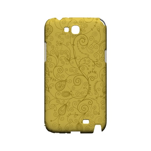 Floral 1 Lemon Zest - Geeks Designer Line Pantone Color Series Hard Case for Samsung Galaxy Note 2