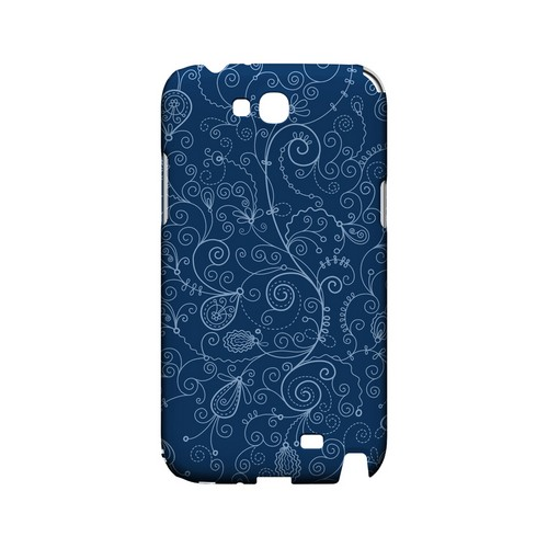 Floral 1 Monaco Blue - Geeks Designer Line Pantone Color Series Hard Case for Samsung Galaxy Note 2
