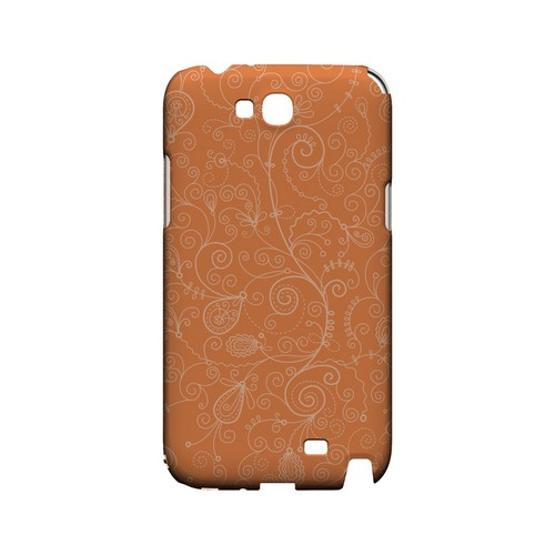 Floral 1 Nectarine - Geeks Designer Line Pantone Color Series Hard Case for Samsung Galaxy Note 2