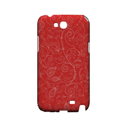 Floral 1 Poppy Red - Geeks Designer Line Pantone Color Series Hard Case for Samsung Galaxy Note 2