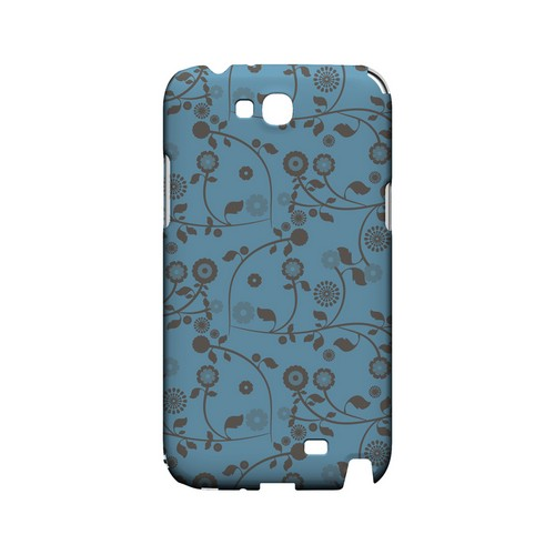 Floral 2 Dusk Blue - Geeks Designer Line Pantone Color Series Hard Case for Samsung Galaxy Note 2