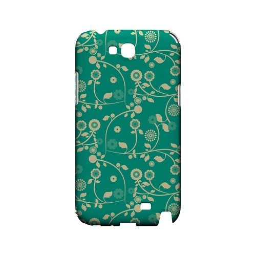 Floral 2 Emerald - Geeks Designer Line Pantone Color Series Hard Case for Samsung Galaxy Note 2